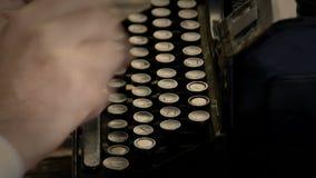 Filme do vintage da máquina da escrita video estoque