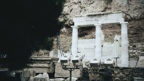 Filme documentável sobre a arquitetura grega clássica, escavações arqueológicos vídeos de arquivo