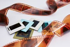 Filme e corrediças imagens de stock