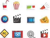 Filme e jogo do ícone do cinema Imagem de Stock Royalty Free