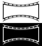 Filme elementos da forma da tira com distorção para a fotografia/gene Imagem de Stock Royalty Free