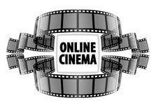 Filme em linha do vídeo do cinema Imagem de Stock