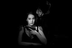 Filme noir fotografia de stock