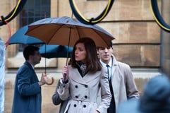 Filme Rose Byrne ajustada da primeira classe de Xmen Imagem de Stock Royalty Free