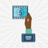 Filmed entertainment design. Illustration eps10 graphic Royalty Free Stock Images