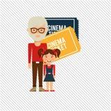 Filmed entertainment design Stock Photo