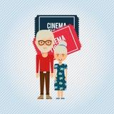 Filmed entertainment design. Illustration eps10 graphic Stock Image