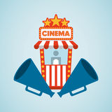 Filmed entertainment design. Illustration eps10 graphic Royalty Free Stock Photo