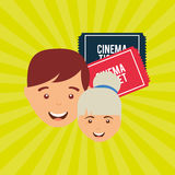 Filmed entertainment design. Illustration eps10 graphic Royalty Free Stock Images