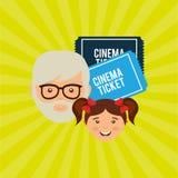 Filmed entertainment design Stock Image
