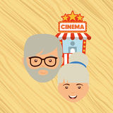 Filmed entertainment design Royalty Free Stock Images