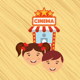 Filmed entertainment design Royalty Free Stock Image