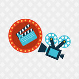 Filmed entertainment design. Illustration eps10 graphic Royalty Free Stock Photography