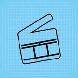 Filmed entertainment icon design. Illustration eps10 graphic Royalty Free Stock Photo