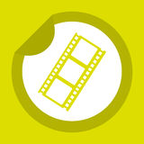 Filmed entertainment icon design Royalty Free Stock Photography