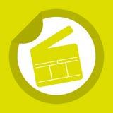 Filmed entertainment icon design Royalty Free Stock Photo