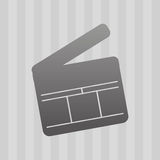 Filmed entertainment icon design Royalty Free Stock Image