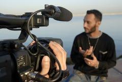 Filmen in Bewegung Lizenzfreies Stockbild