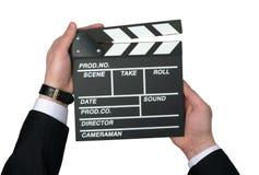 Filmen i händerna arkivbilder