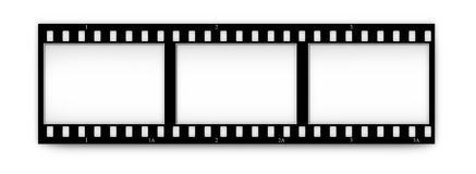 Filmen Sie (Chrom, Weiche) Felder (Plättchen) mit in.frames Lizenzfreie Stockfotografie
