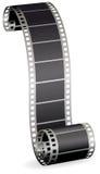 Filmen Sie Streifen für Foto oder Video auf weißem Hintergrund Lizenzfreies Stockfoto