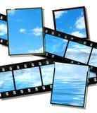Filmen Sie Streifen mit Sommerhorizontbild, hohes deta stock abbildung
