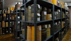 Filmer lagrades Arkivfoton