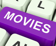 Filmer stämmer hjälpmedelfilmer eller film Arkivfoton
