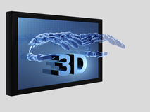 filmes 3D Imagens de Stock