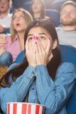 Filmes assustadores no cinema Imagem de Stock