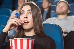 Filmes interessantes no cinema Imagem de Stock Royalty Free