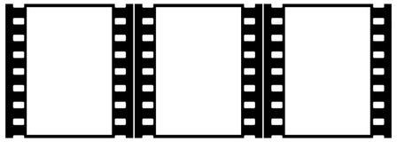 Filmez (chrome, doux) les trames (glissières, groupe, verticaux) Photos stock