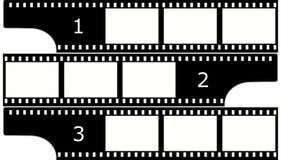 Filmez (chrome, groupe) les trames (les glissières) Image stock
