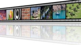 Filmez la bande avec l'illustration de collage de photos avec l'espace vide de copie Images stock