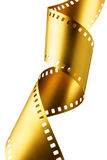 filmez la bande d'or Photo stock