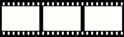 Filmez les trames (de chrome) (les glissières) Photos stock