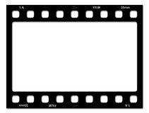 Filmfeld lizenzfreie abbildung