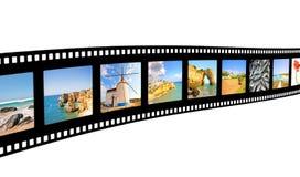 Filmfeld mit Abbildungen von Portugal Lizenzfreies Stockbild