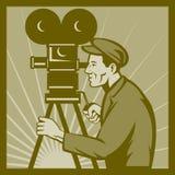 Filmfernsehfilm-Kameradirektor stock abbildung