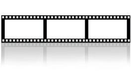 Filmfilm på vit Arkivfoto