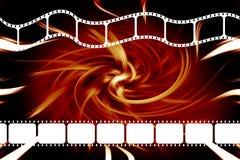 Filmfilmbandspulestreifen Lizenzfreie Stockfotos