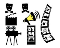 Filmfilmkameramaske Stock Abbildung