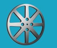 Filmfilmrullar ses i denna 3-D illustration om de biobranschen och filmerna i allmänhet stock illustrationer