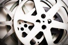 Filmfilmrullar tömmer tappningeffekt Arkivfoton