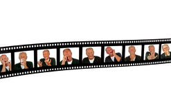 Filmframe with human expressions Stock Image