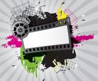 Filmhintergrund mit Filmstreifen Stockbild