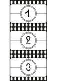 Filmi i numeri di conto alla rovescia, le cifre del disegno della mano, illustrazione di vettore illustrazione di stock