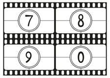 Filmi i numeri di conto alla rovescia, le cifre del disegno della mano, la parte 3 dell'illustrazione di vettore illustrazione di stock