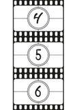 Filmi i numeri di conto alla rovescia, le cifre del disegno della mano, parte 2 dell'illustrazione di vettore royalty illustrazione gratis