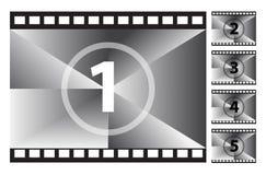 Filmi il conto alla rovescia della striscia Immagini Stock